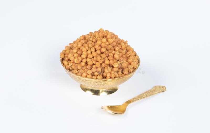 Pakori Or Bundi. Indian Spicy Food Pakori or Bundi Namkeen royalty free stock images