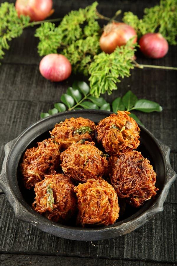 Indian spicy onion pkkoda. Or pakoras stock images