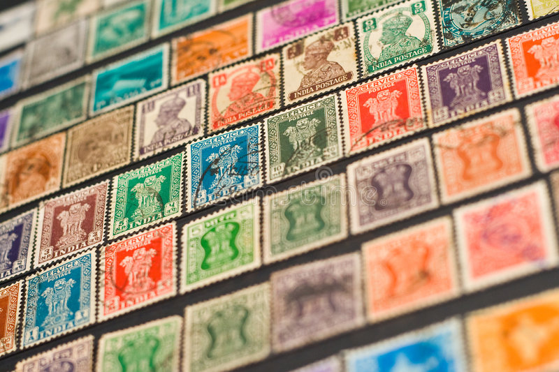 Indian Stamps royalty free stock photography
