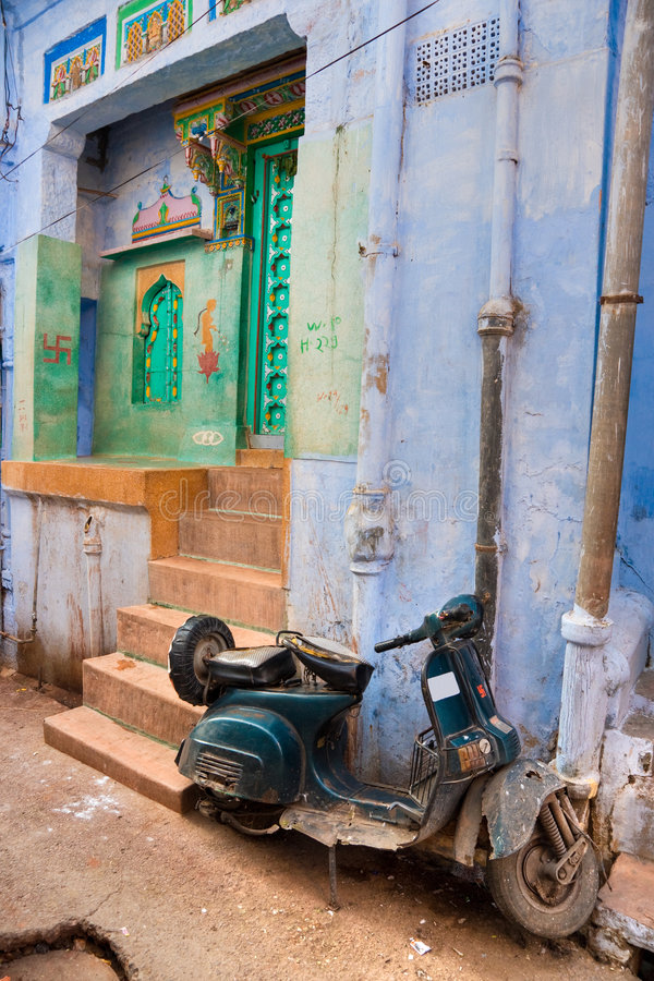 Indian street stock images