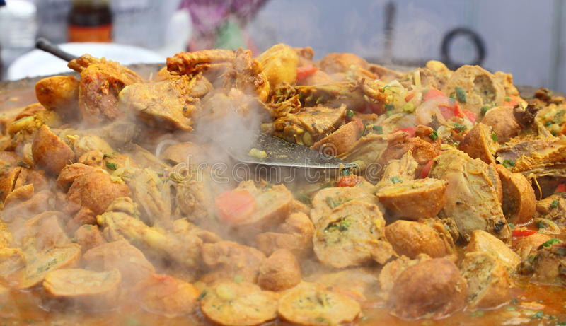 Indian street Food: Chicken dish royalty free stock photo