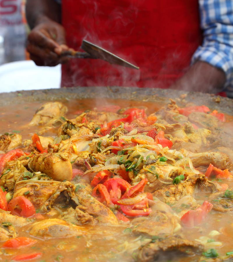 Indian street Food: Chicken dish royalty free stock photos