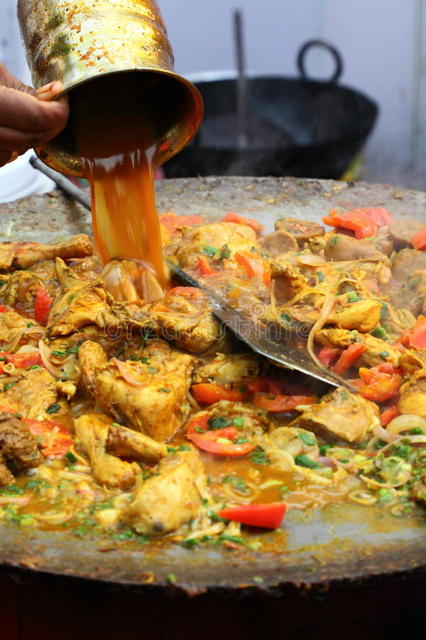 Indian street Food: Chicken dish stock images