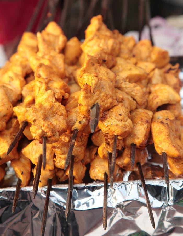 Indian street Food: Chicken Kawab stock images