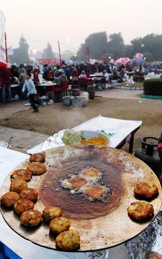 Indian street Food Festival, New Delhi royalty free stock photography