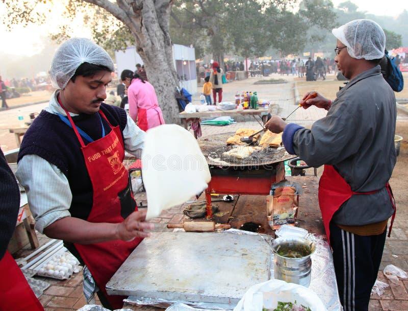Indian street Food Festival, New Delhi stock image