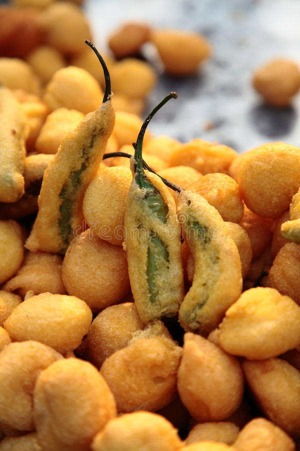 Indian Street Food: Fried Food stock images