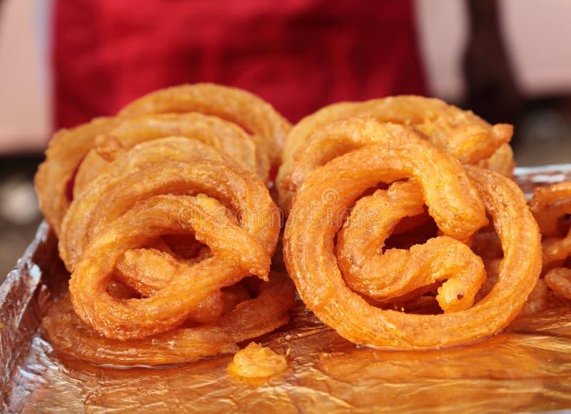 Indian street Food: Jalebi A sweet dish stock images