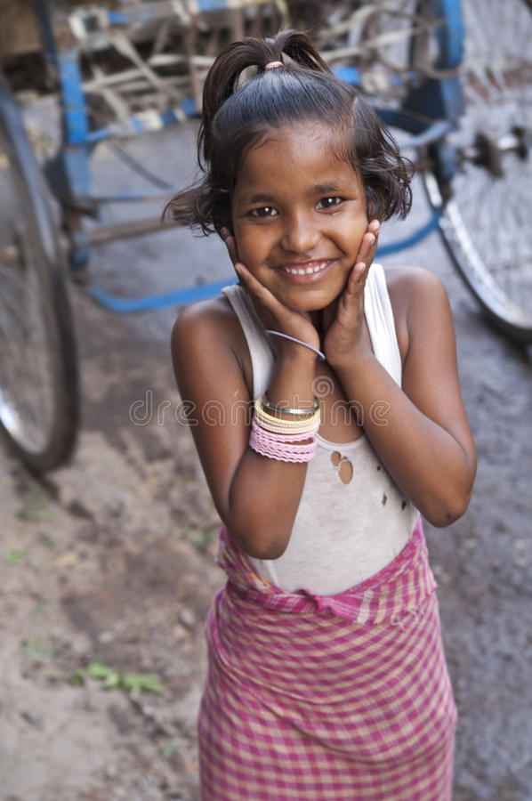 Download Indian Street Girl editorial stock image. Image of grin - 17577354