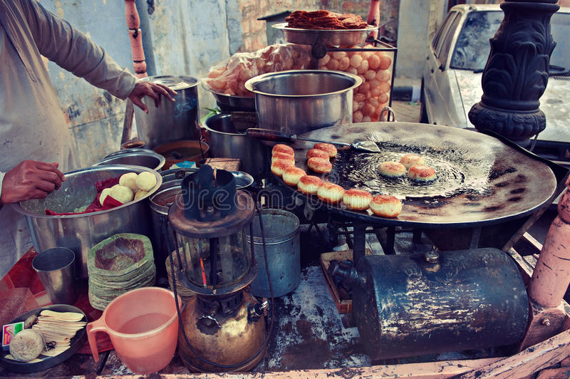 Indian Street Kitchen Editorial Stock Image Image Of Live 60791324