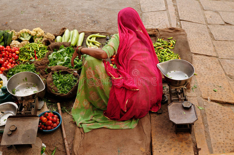 Download Indian street seler stock image. Image of women, colourful - 16779185