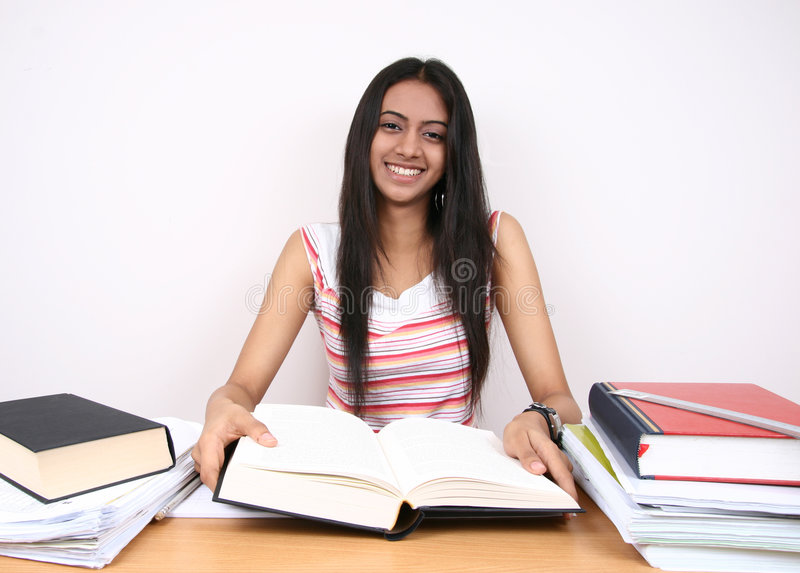 Indian student studying. royalty free stock image