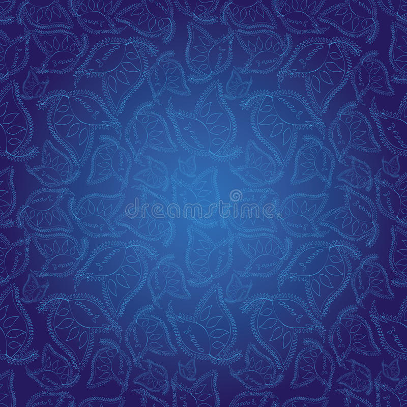 Download Indian Style Blue Seamless Pattern Wallpaper Stock Vector - Illustration of curtains, design: 13446459