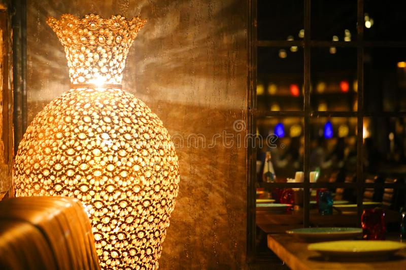 Indian style lamps stock photos