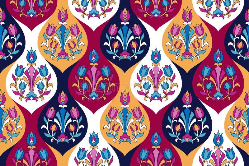 Indian floral pattern stock illustration