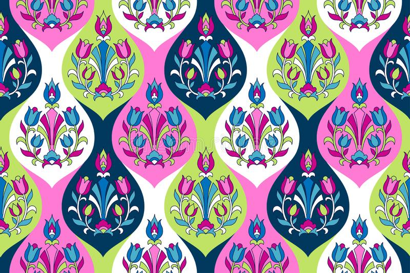 Indian style ornament stock illustration