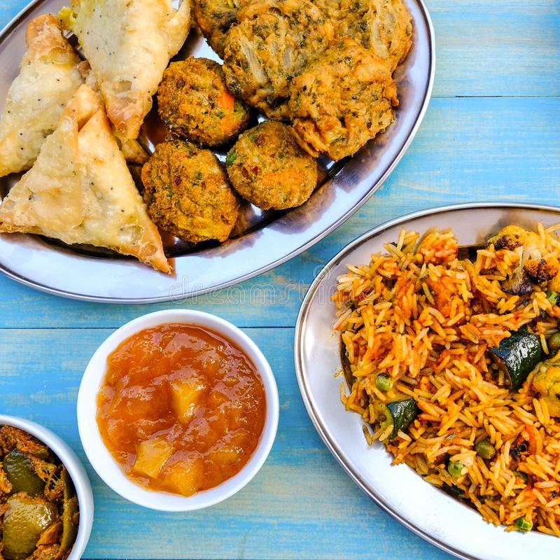 Indian Style Vegetable Biryani Meal royalty free stock photos