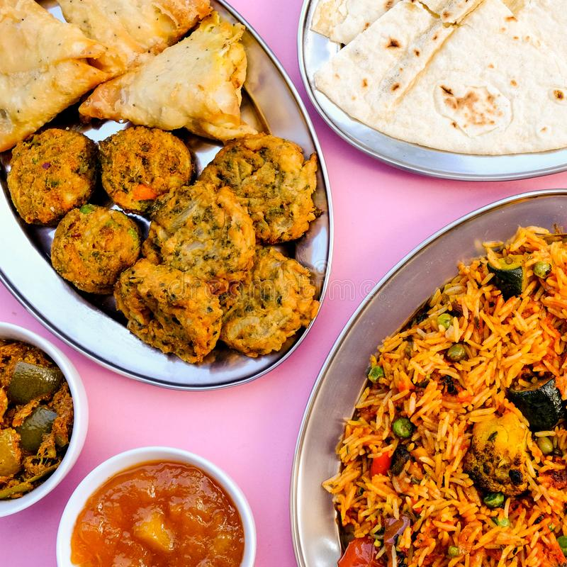 Indian Style Vegetable Biryani Meal royalty free stock images