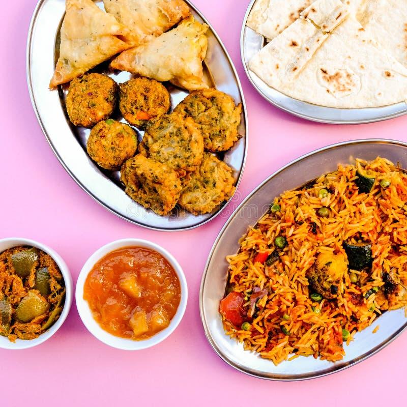 Indian Style Vegetable Biryani Meal royalty free stock photography