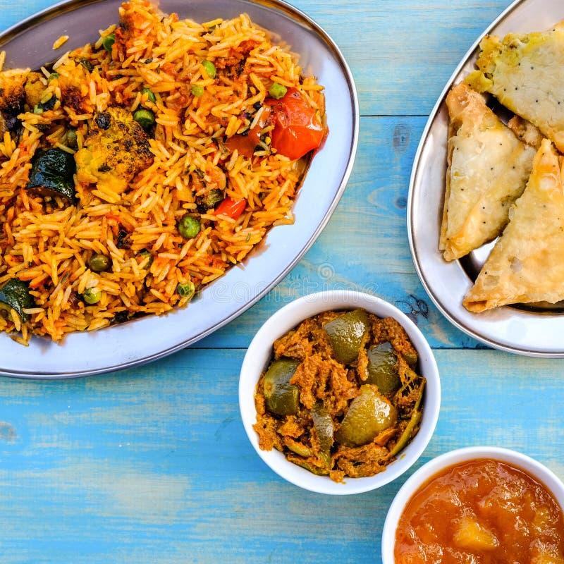 Indian Style Vegetable Biryani Meal stock image