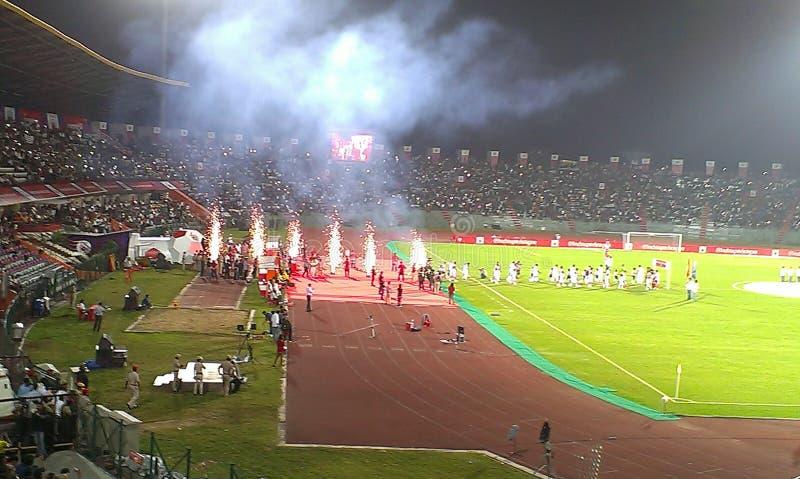 Indian Super League-Spiel in Guwahati, Indien stockbilder