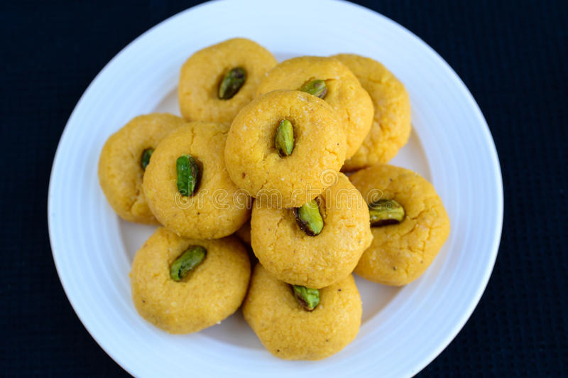 Indian Sweet -Mango Peda. Mango Peda: Indian Sweet prepared out of Milk product, sugar and aromatic ingredients royalty free stock photos
