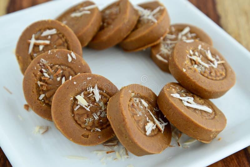Indian Sweet - Mathura Peda stock image
