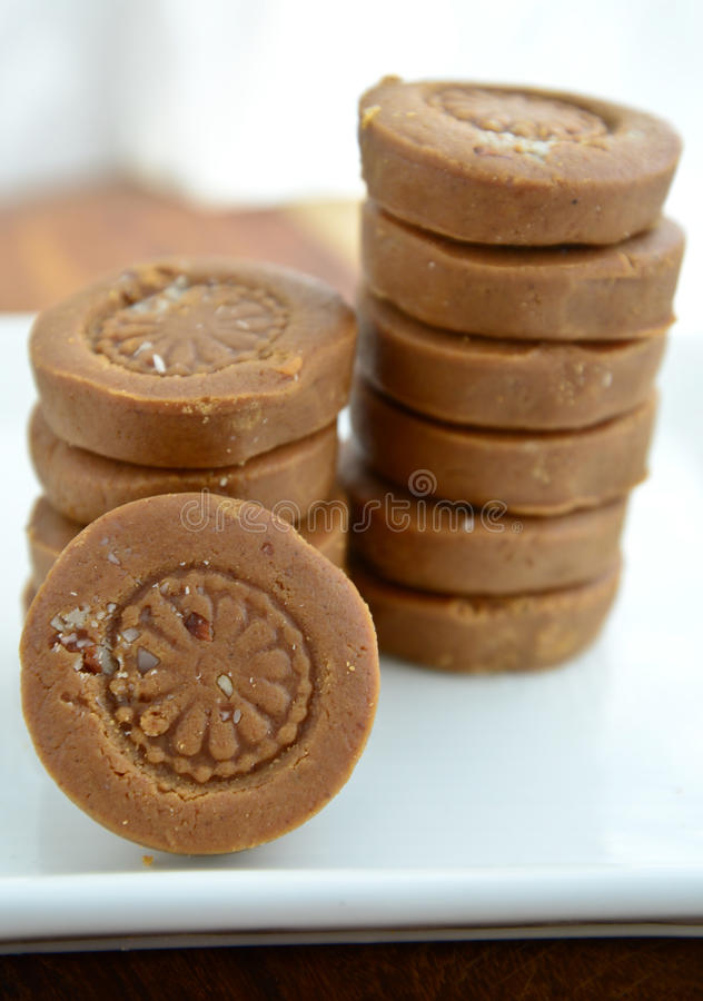 Indian Sweet - Peda. Peda: Indian Sweet prepared out of Milk product, sugar and aromatic ingredients.Very famous product from Mathura Uttar pradesh and Dharwad stock image