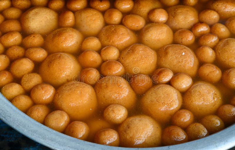 Indian Sweet - Rasagulla. Rasagulla - is a very popular cheese based, syrupy sweet dish originally from the India stock images