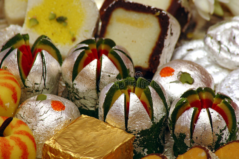 Indian Sweets - Mithai. These are sweets from India prepared out of Milk products, sugar and aromatic ingredients - Its is a close shot royalty free stock photos