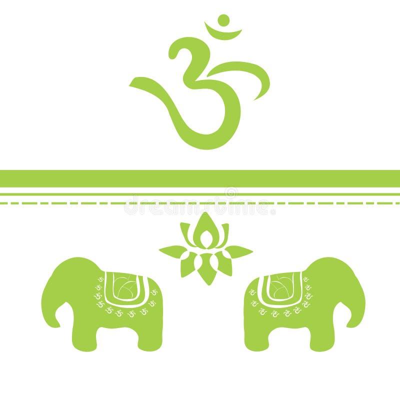 Indian Symbols Royalty Free Stock Photography