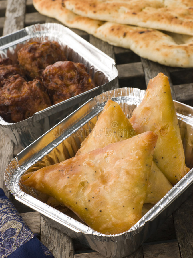 Download Indian Take Away stock photo. Image of container, samosa - 6879016