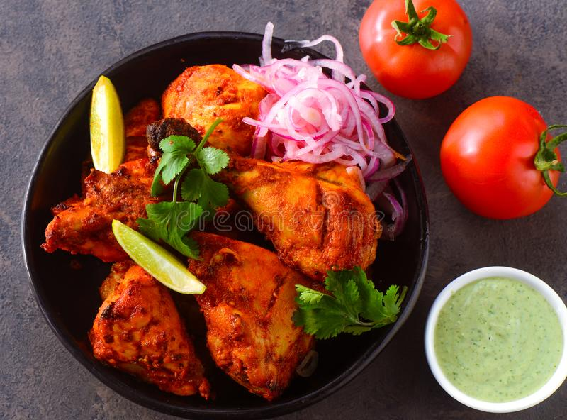 Fried chicken Tandoori starters stock photography