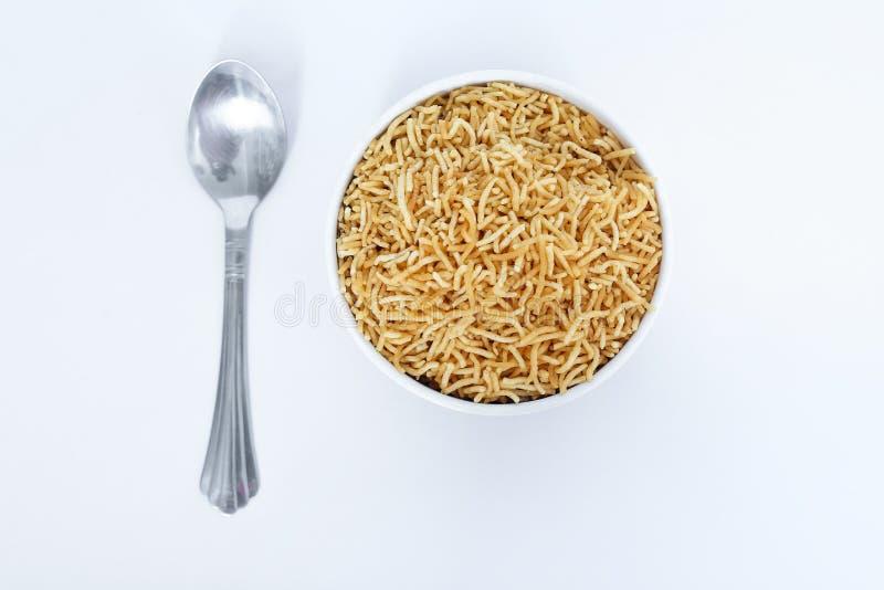 Indian tasty namkeen bikaneri bhujia stock image