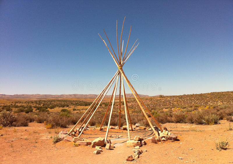 Indian Tee Pee Frame. Traditional American Indian Tee Pee frame royalty free stock photos