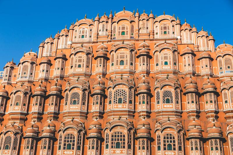Indian Temple in Jaipur royalty free stock photo