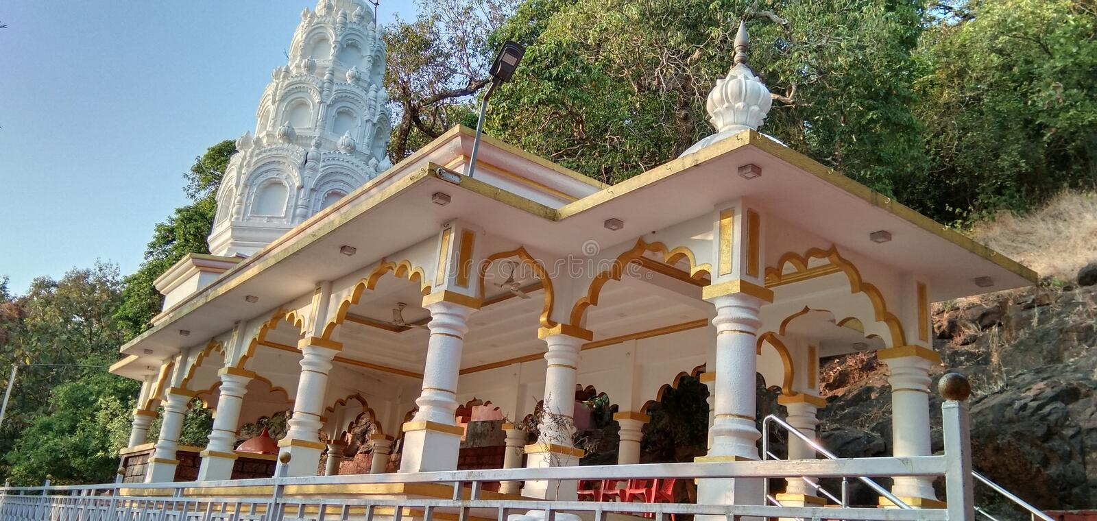 Indian temple structure of God ganesha. stock images