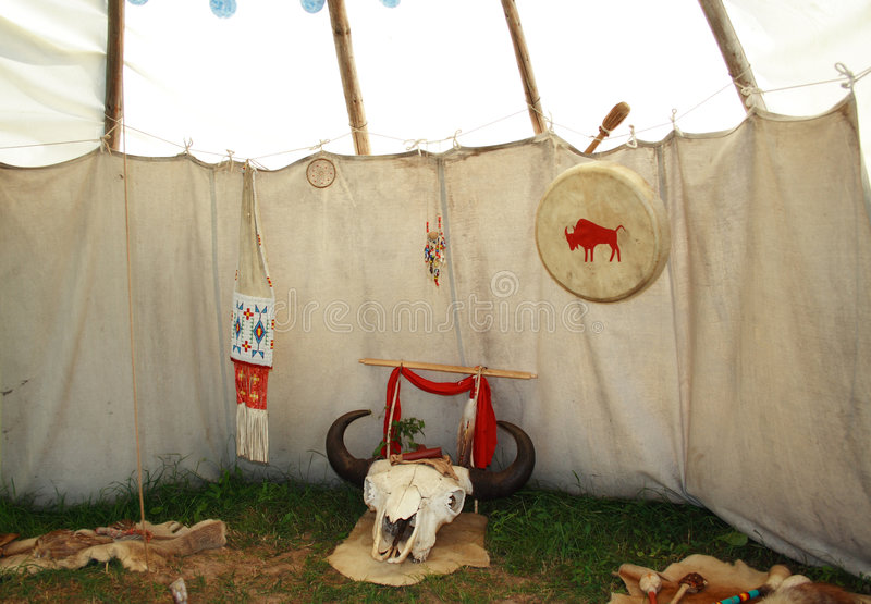 Indian tent stock images