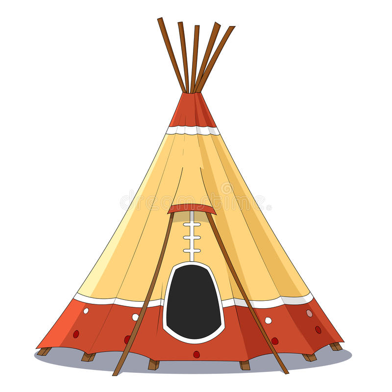 Download Indian tent stock vector. Illustration of vivid c&ing - 42042122  sc 1 st  Dreamstime.com & Indian tent stock vector. Illustration of vivid camping - 42042122