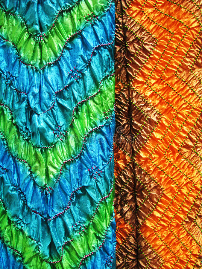 Indian textile, close-up stock photos