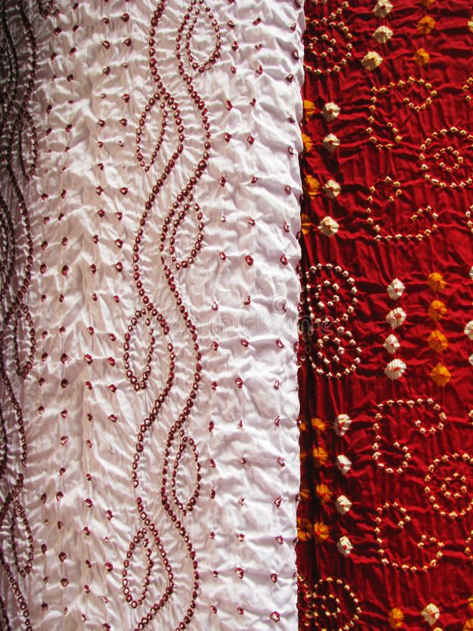 Indian textile, close-up stock photo