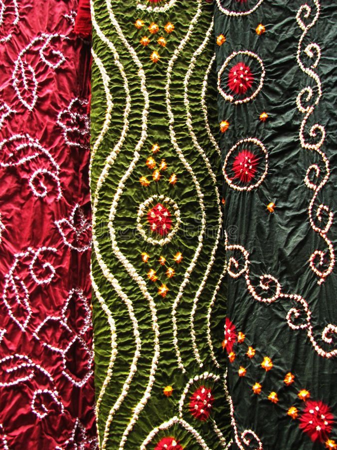 Indian textile, close-up royalty free stock image