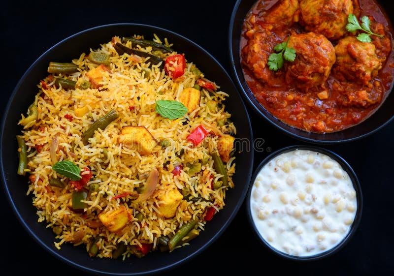 Indian Thali or Indian meal stock photos