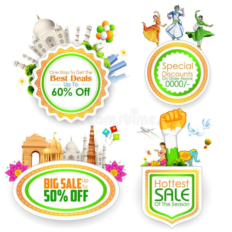 Indian theme Sale Badge stock illustration