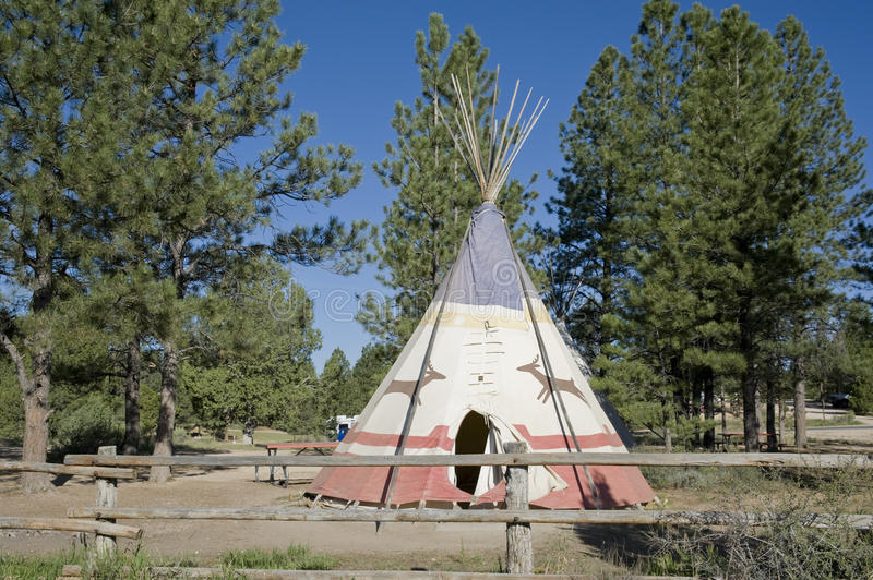 Indian tipi. In bryce canyon stock photo