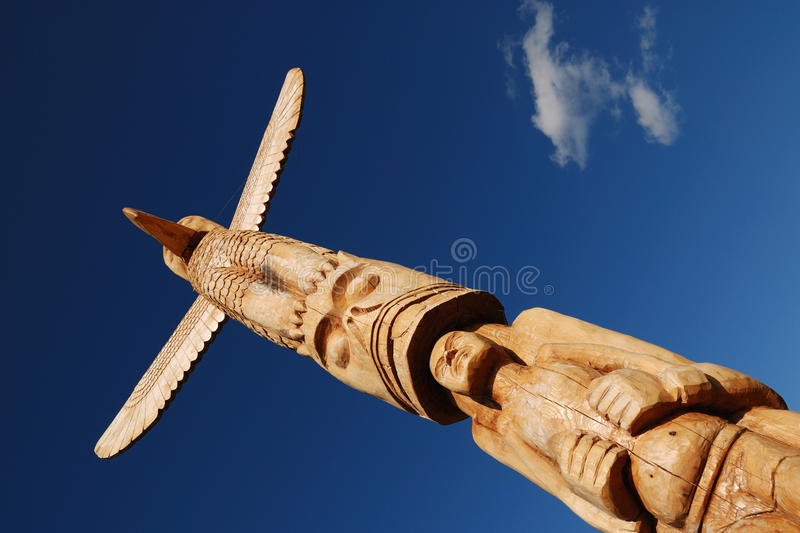 Indian Totem Pole royalty free stock photo
