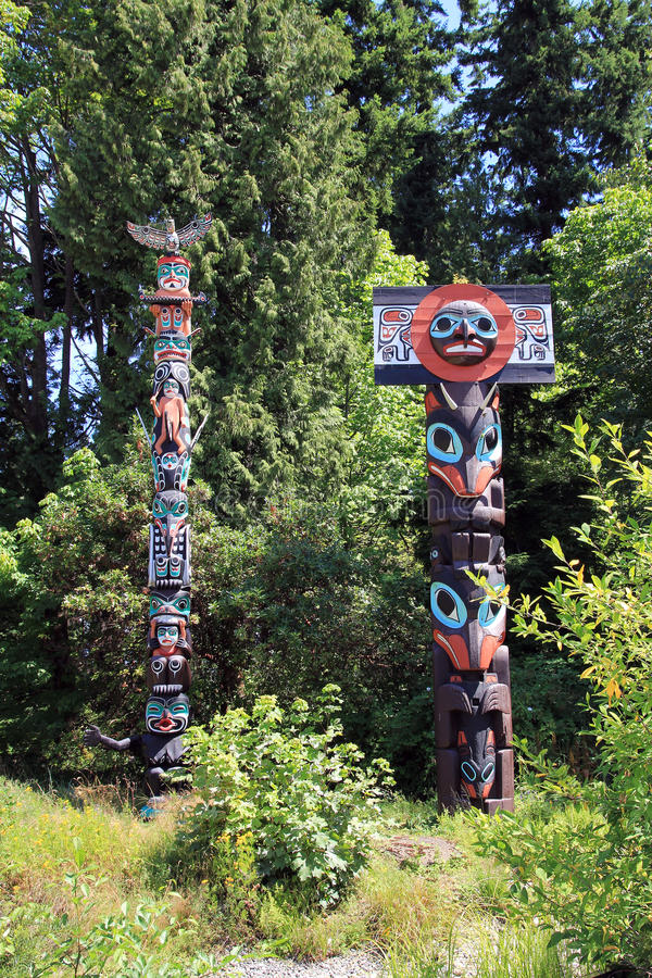 Indian Totems stock image