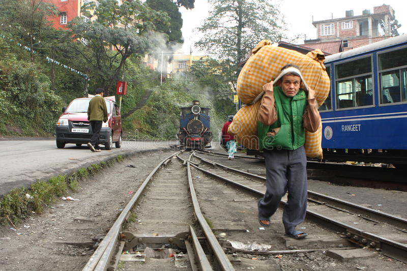 Indian Toy Train Editorial Photo