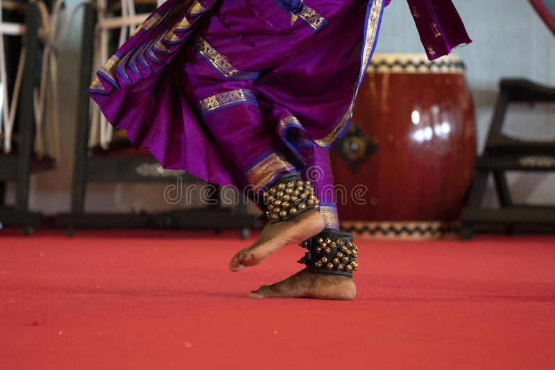 India traditional dance foot detail royalty free stock image