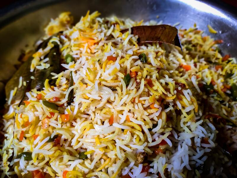 Indian Traditional Dish in delhi. This is The Indian Veg Fried Rice. Veg Fried Rice Recipe is a very popular Indian dish royalty free stock photography